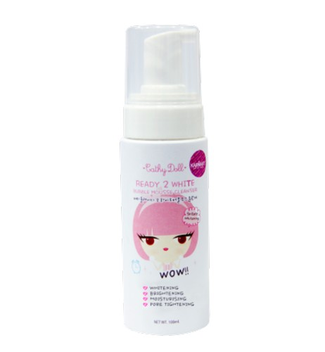 cathydoll ready 2 white bubble mousse new